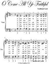 O Come All Ye Faithful Elementary Piano Sheet Music