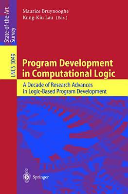 Program Development in Computational Logic