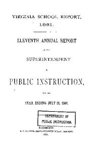 Annual Report of the Superintendent of Public Instruction PDF