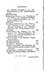 Tabulæ Linguarum. Being a set of tables, exhibiting at sight the declensions of nouns and conjugations of verbs ... In eight parts. Part I. Containing the Latin, Spanish, Portuguese, Italian, French, and Norman. [The dedication signed: H. C., i.e. Henry Clarke.]