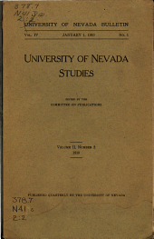 University of Nevada Studies: Volume 2, Issue 2