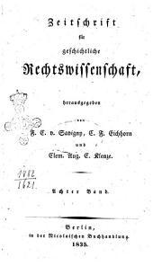 Zeitschrift fur geschichtliche Rechtswissenschaft