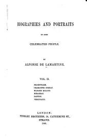 Shakespeare. Charlotte Corday. Madame Roland. Mirabeau. Danton. Vergniaud