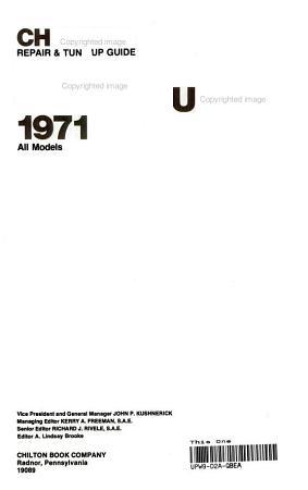 Chilton s Repair   Tune up Guide  Toyota Celica Supra 1971 83  All Models PDF