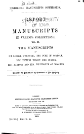 The Manuscripts of His Grace the Duke of Norfolk, K.G., at Norfolk House, St. James's Square: Volumes 2-3