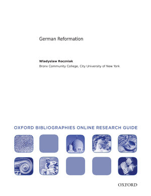 German Reformation  Oxford Bibliographies Online Research Guide PDF