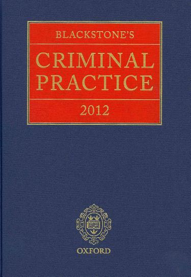 Blackstone s Criminal Practice 2012  book Only  PDF