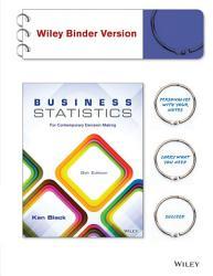 Business Statistics 8e Binder Ready Version   WileyPLUS Registration Card PDF