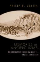Memories of Ancient Israel PDF