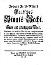 Teutsches Staats-Recht: Band 27