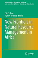 New Frontiers in Natural Resources Management in Africa PDF