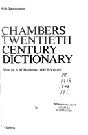 Chambers Twentieth Century Dictionary