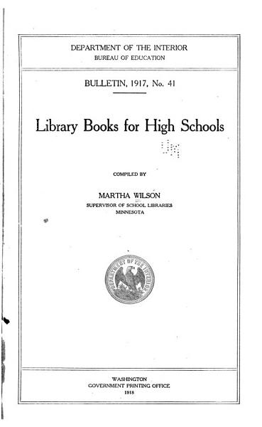 Download Library Books for High Schools Book