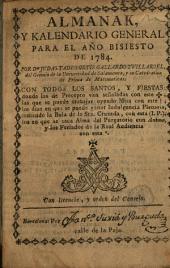 Almanak y kalendario general para el año de 1785