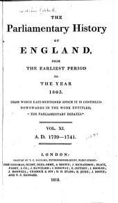 Cobbett's Parliamentary History of England: 1739-1741, Volume 11
