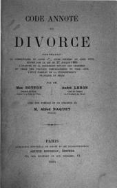 Code annoté du divorce ...