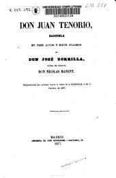 Don Juan Tenorio: zarzuela en tres actos y siete cuadros