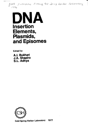 DNA Insertion Elements, Plasmids, and Episomes