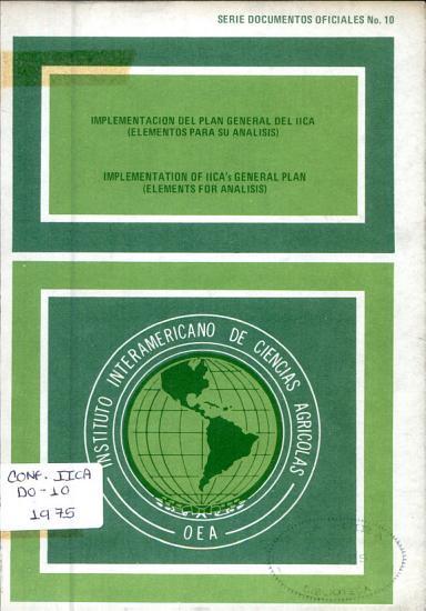 Implementaci  n del plan general del IICA PDF