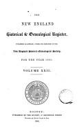 the new england historical   genealogical register volume xxii  PDF