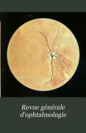 Revue générale d'ophtalmologie: Volume26
