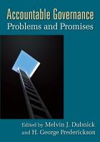Accountable Governance  Problems and Promises PDF