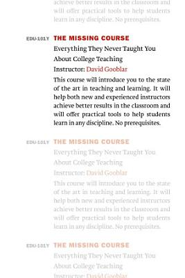 The Missing Course