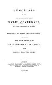 Memorials: With Matters Relating to the Promulgation of the Bible