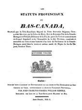 Statuts Provinciaux de Bas-Canada: Volume 15