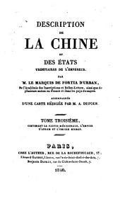 Description de la Chine et des états tributaires de l'empereur: Volume3