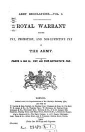 Royal Warrant for the Pay and Promotion, Non-effective Pay, and Allowances of Her Majesty's British Forces Serving Elsewhere Than in India