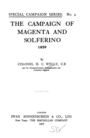 The Campaign of Magenta and Solferino  1859 PDF