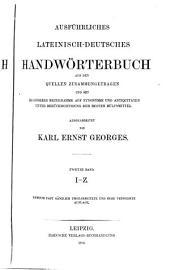 Ausführliches lateinisch-deutsches und deutsch-lateinisches Handwörterbuch: Band 2