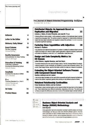 Journal of Object oriented Programming PDF