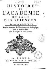 Histoire de l'Academie Royale des Sciences: année MDCCLXXXII, avec les mémoires de mathématique [et] de physique, pour la même année, tirés des registres de cette Académie