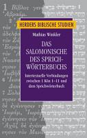 Das Salomonische des Sprichw  rterbuchs PDF