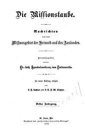 Missions-Taube: Volume 1