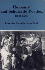 Humanist and Scholastic Poetics, 1250-1500