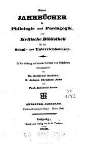 Neue Jahrbücher für Philologie und Pädagogik: Band 35