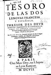 Tesoro de las dos lenguas francesa y española