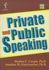 Private and public speaking
