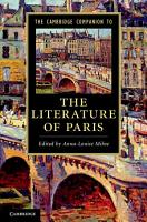 The Cambridge Companion to the Literature of Paris PDF