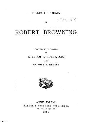 Select Poems of Robert Browning PDF