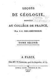 Leçons de géologie: données au Collége de France, Volume2