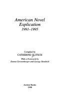 American Novel Explication, 1991-1995