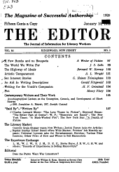 The Editor: The Journal of Information for Literary Workers, Volumes 52-55