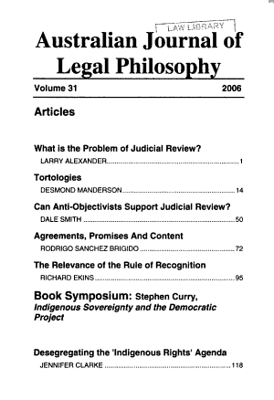 Australian journal of legal philosophy