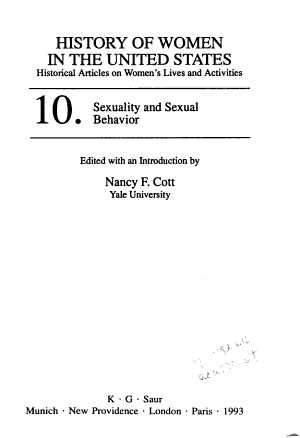 Sexuality and Sexual Behavior