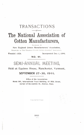 Transactions of the National Association of Cotton Manufacturers: Issue 91