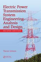 Electrical Power Transmission System Engineering PDF